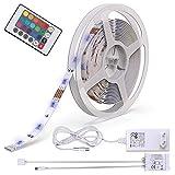 B.K.Licht LED Stripes, Stripe, Lichterkette, Band, Streifen, LED Leiste, LED Lichtleiste, LED Bänder, Lichterkette LED, weiß, bunt, inkl. Fernbedienung, inkl. Farbwechsel, 5m selbstklebend