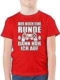 Sprüche Kind - Nur noch eine Runde - 152 (12/13 Jahre) - Rot - Coole Shirts für Jungs - F130K -...