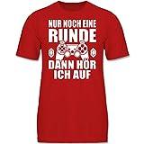 Sprüche Kind - Nur noch eine Runde - 152 (12/13 Jahre) - Rot - F130K - Kinder Tshirts und T-Shirt...